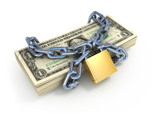 money locked up
