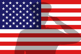 USA flag soldier